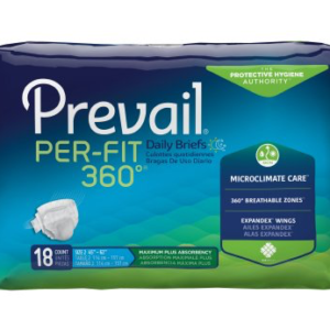 Prevail Per-Fit 360 Adult Brief, Large, Heavy Absorbency Case of 72