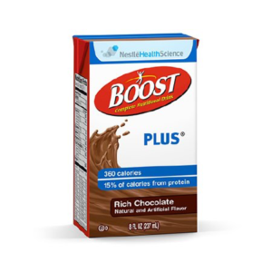 Boost Plus Chocolate - 8oz Tetra Brik - Nestle Nutrition Drink Case of 27
