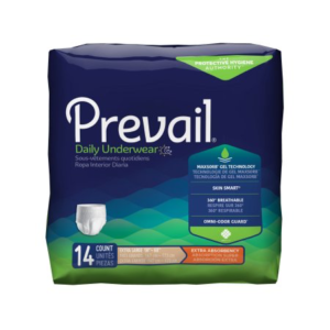 Prevail Daily Underwear, X-Large, Moderate Absorbency Case of 56