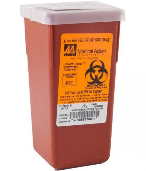 Sharps Container, 1qt, Red - 8702 Case of 72