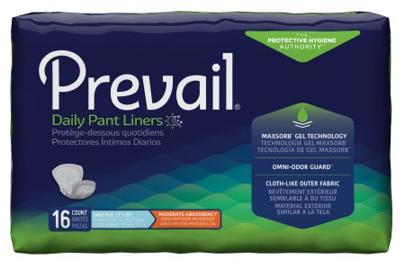 Prevail Daily Bladder Control Pad, Large, Moderate Absorbency Case of 96