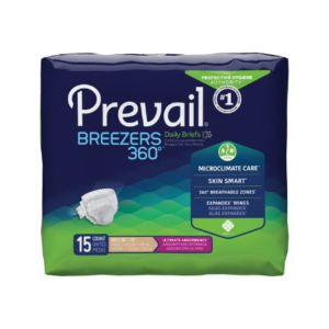 Prevail Breezers 360 Adult Brief, Size 3, Heavy Absorbency Case of 60
