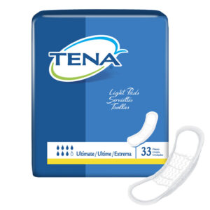 TENA® Light Incontinence Pads, Ultimate Absorbency, 47709 Case of 99