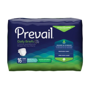 Prevail Adult Incontinence Brief, Small, Heavy Absorbency Case of 96