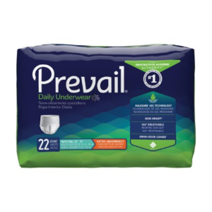 Prevail Daily Underwear, Youth/Small, Moderate Absorbency Pack of 22