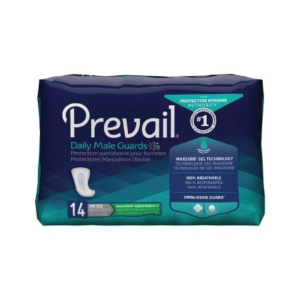 Prevail Daily Male Guards, One Size Fits Most, Heavy Absorbency Case of 126