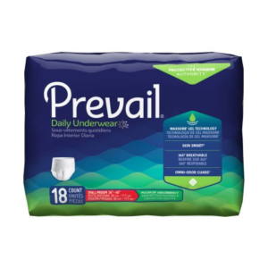 Prevail Adult Pull On Underwear with Tear Away Seams, Small/Medium, Heavy Absorbency Pack of 18