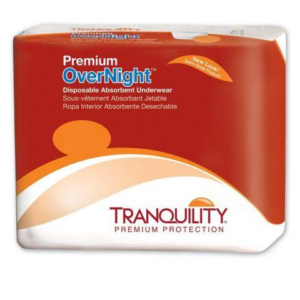 Tranquility Premium Overnight Disposable Underwear, 2X-Large, Heavy Absorbency, 2118 Case of 48