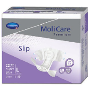 Adult Incontinence Brief, Molicare Premium Super Plus Tab Closure, Large, Heavy Absorbency Pack of 30