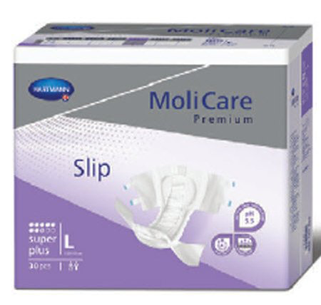 Adult Incontinence Brief, Molicare Premium Super Plus Tab Closure, Large, Heavy Absorbency Case of 90