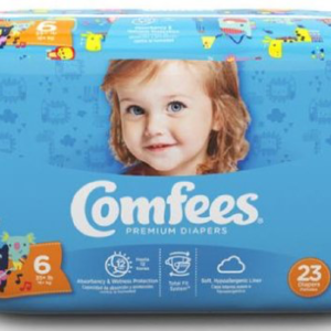 Comfees Baby Diapers Size 6 CMF-6 Case of 92
