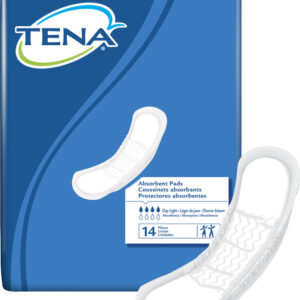 TENA® Day Light 2 Piece Heavy Incontinence Pad, Moderate Absorbency, 62326 Case of 84