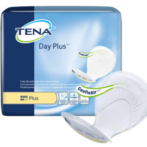 TENA® Day Plus 2 Piece Heavy Incontinence Pad, Maximum Absorbency, 62618 Pack of 40