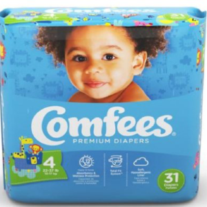 Comfees Baby Diapers Size 4 CMF-4 Case of 124