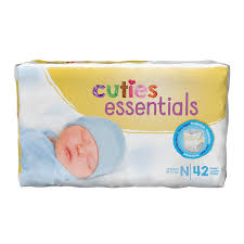 Cuties Baby Diapers Newborn CR0001 Case of 168