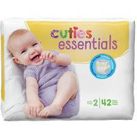Cuties Baby Diapers, Size 2 CR2001 Pack of 42
