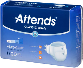 BRB40 - Attends Classic Briefs, X-Large Case of 60