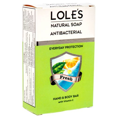 LOLE NATURAL SOAP ANTIBACTERIAL 3.5oz FRESH SCENT - 24 count