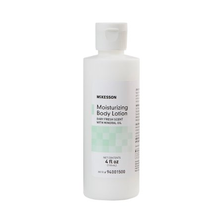 Hand and Body Moisturizer McKesson 4 oz. Bottle Baby Fresh Scent Lotion - 12 count