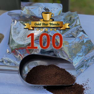 100 Packs of Gold Star Blends Coffee, 2.75oz