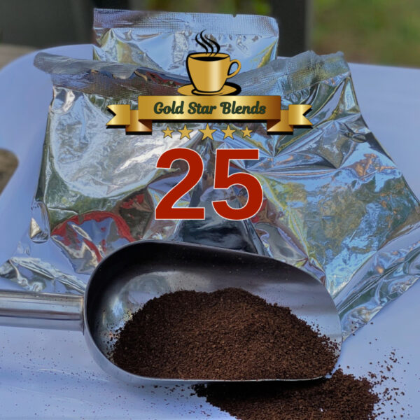 25 packs of Gold Star Blends Coffee, 2oz